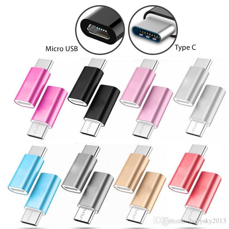 Adaptador USB OTG 3.1 Tipo C macho a Micro USB hembra adaptador convertidor de conector USB-C para la galaxia s8 s8 enchufe nota g5 5 lg