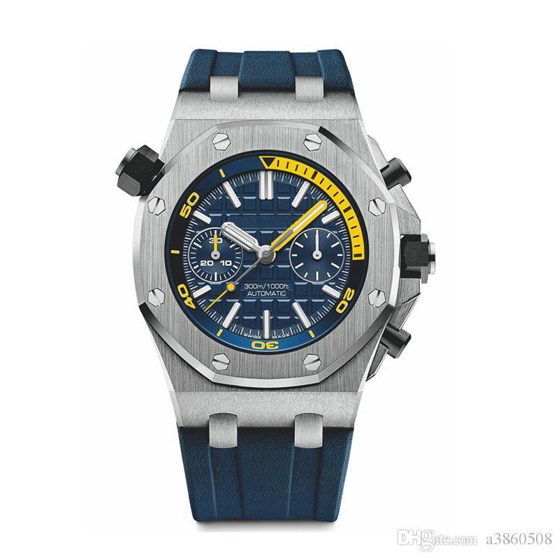 Pulseira de borracha Top alta qualidade VK relógio de quartzo para homens Moda relógio de pulso esporte VK Chronograph Relógios, montre de luxe, orologio di lusso