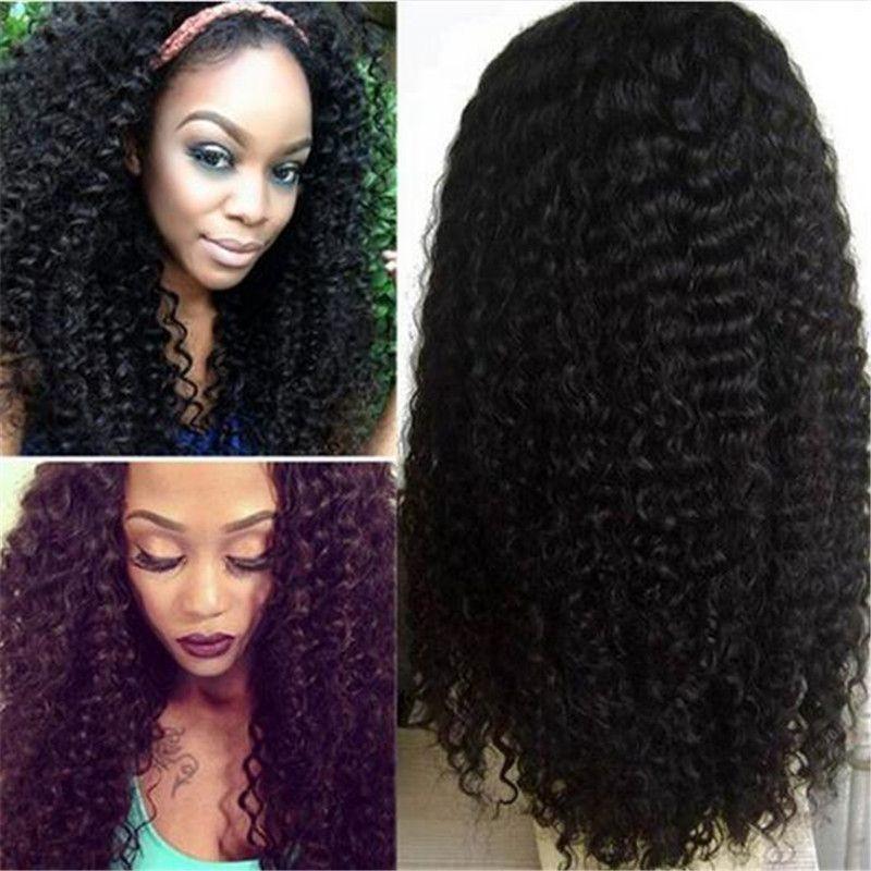 Parrucca di pizzo per le donne nere parrucche piene dei capelli umani del pizzo con i capelli del bambino capelli profonde brasiliani dei capelli i capelli del remy spedizione gratuita