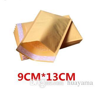 Wholesale-100 pcs 90x130+40mm Padded Envelopes Bags Bubble Mailers KRAFT BUBBLE MAILERS MAILING ENVELOPE BAG Free Shipping