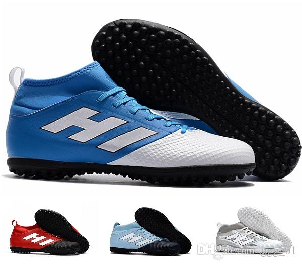 2017 new arrival factory outlet ACE 17.3 Primemesh TF men's Soccer Boots High quality cheap outdoor lawn soft spike Football Shoes