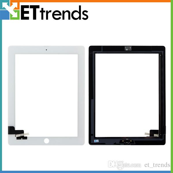 high quality lcd creen for iPad 2/3/4 Touch Screen Glass Digitizer Assembly With Home Button & 3M Adhensive Free Shipping by DHL