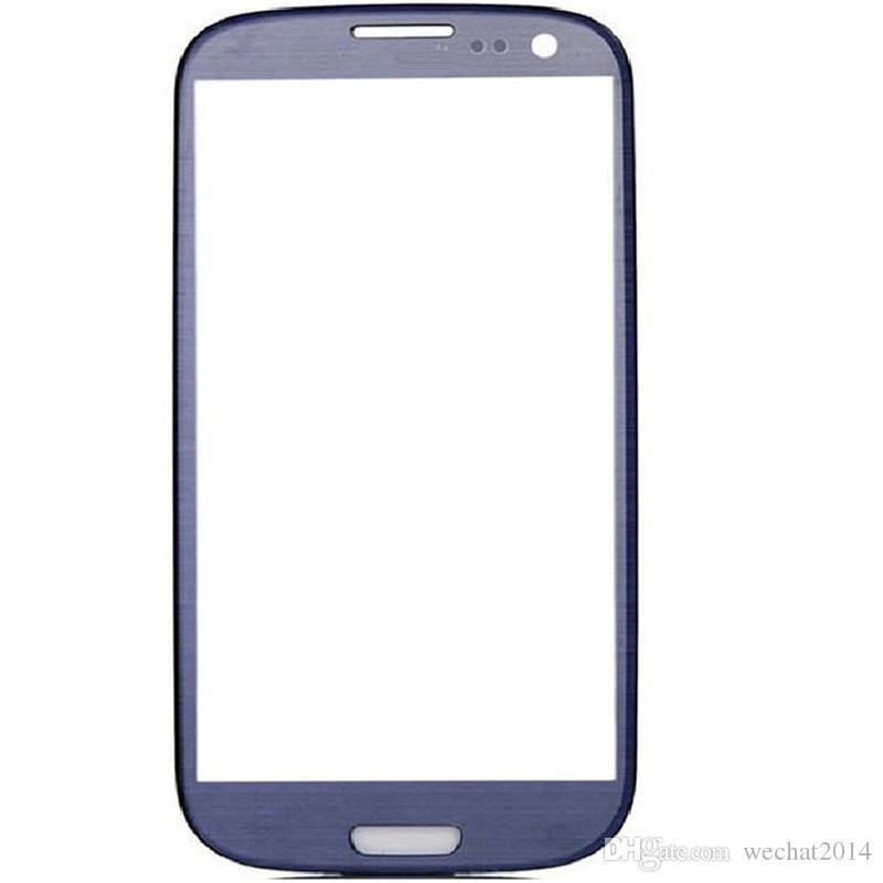 Pebble Blue Front pantalla táctil externa reemplazo de la lente de cristal para Samsung Galaxy S3 i9300 DHL de envío