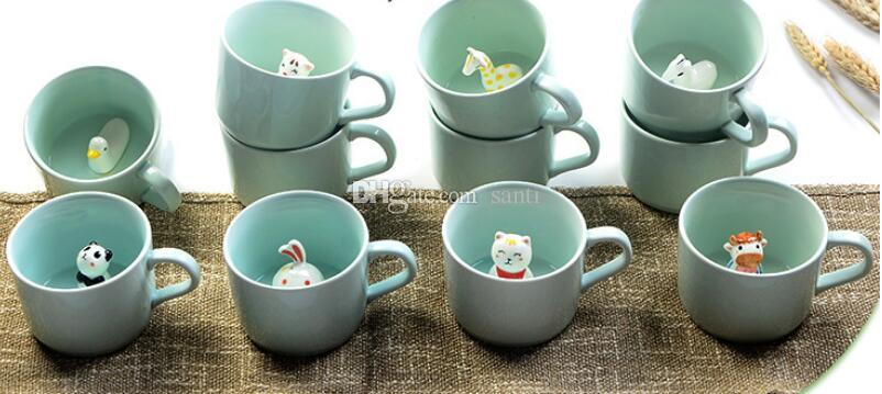 Small 3D Ceramic Cute Animals Coffee Milk Cup Tea Mug Heat-resistant Nice Gift