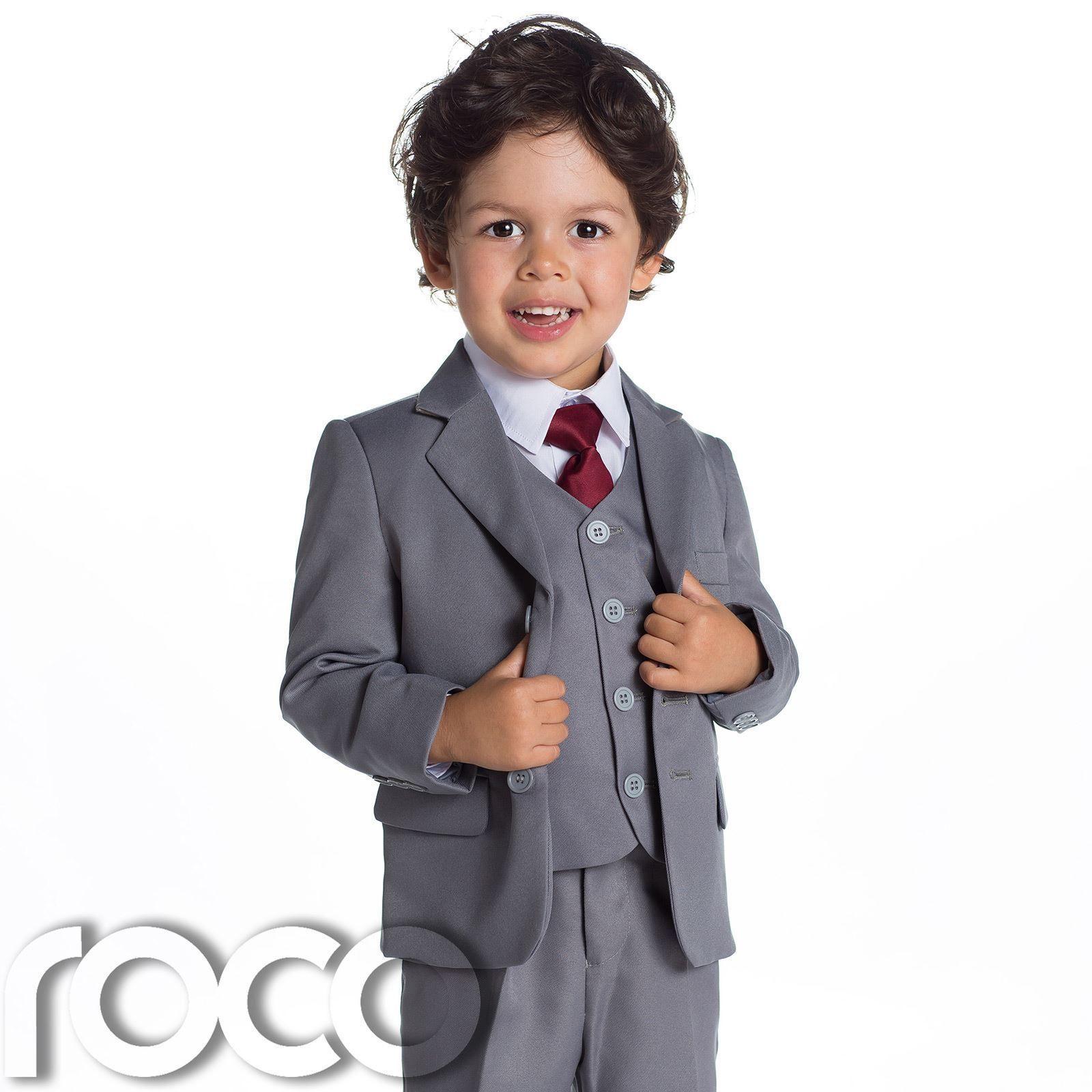 Baby Boys Grey Suit, Page Boy Suits, Baby Boys Wedding Suit, 1 ...