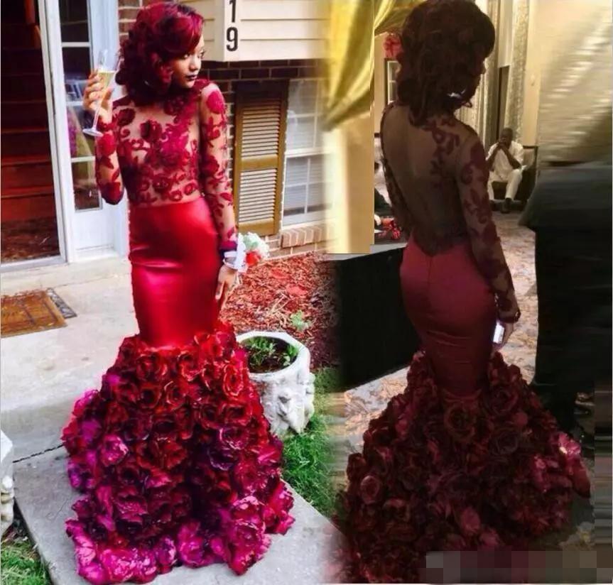 2021 Black Girl rote wulstige Rachel Allan Abendkleider formale Kleider Festzug-Kleid Volantrock Tüll Kapelle Zug Abendkleider