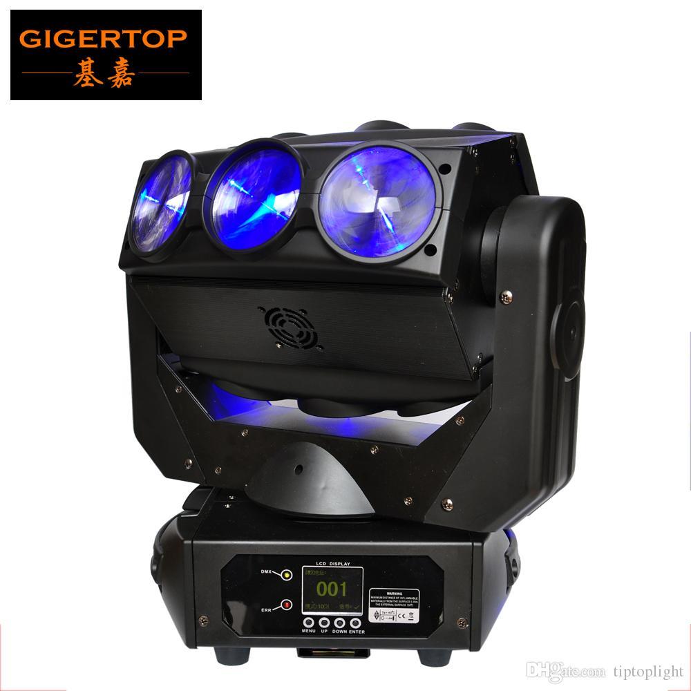 TIPTOP TP-L676 9 x 12W LED Örümcek Hareketli Başkanı Işık RGBW 4IN1 DMX 512 Sahne Disco Aydınlatma Backdrop Işın Aydınlatma Lineer Dimer