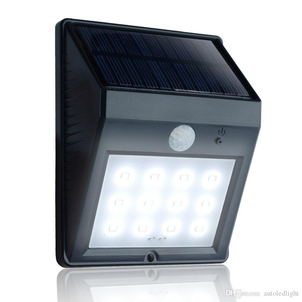 12 LED Outdoor Wireless Solar Energy Powered Motion Security Night Lights Auto Turn-off Wireless Solar LED Garden Lamp w/ Activity Sensor