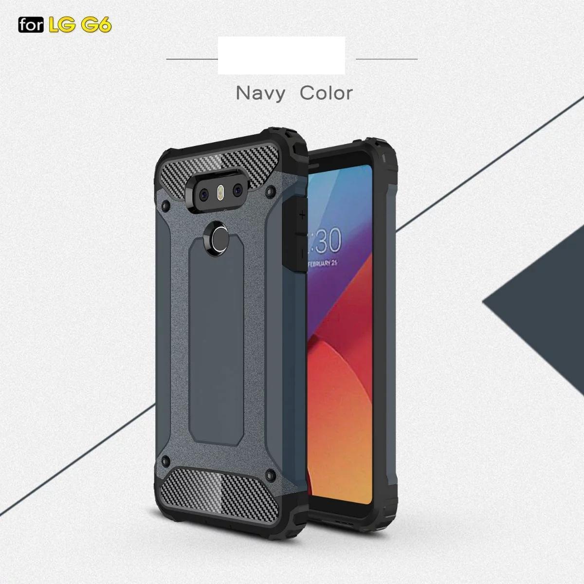 RG G6 G5 Q6 Galaxy S7 Edge S7 Plus S6 Edge Plus S6 Edge S7 Plus S6 Edge Plus S6 Edge Plus 50PC用アーマーハイブリッドディフェンダーケースTPU + PC耐衝撃カバーケース