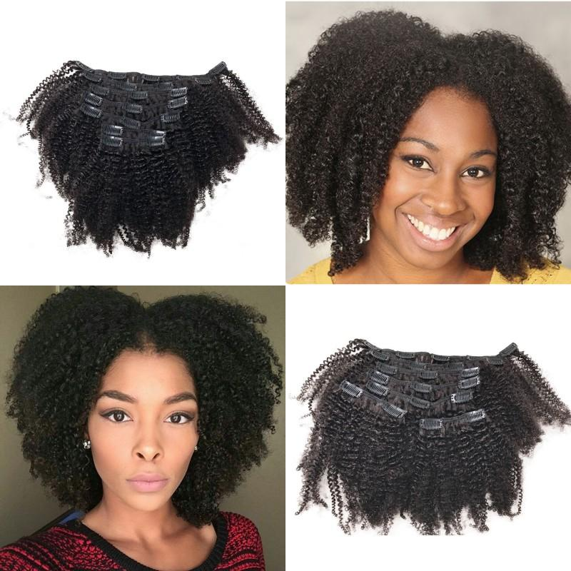 Afro Kinky Curly Remy Hair Clip in Extension Vietnamese Human Hair 7pcs/lot Full Head Clip ins FDSHINE