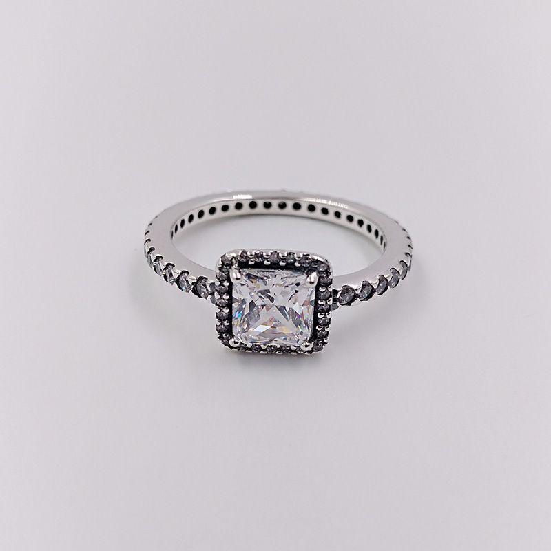 Autentico 925 sterling sterling anelli anello di eleganza senza tempo adatti gioielli in stile Pandora europeo 190947CZ