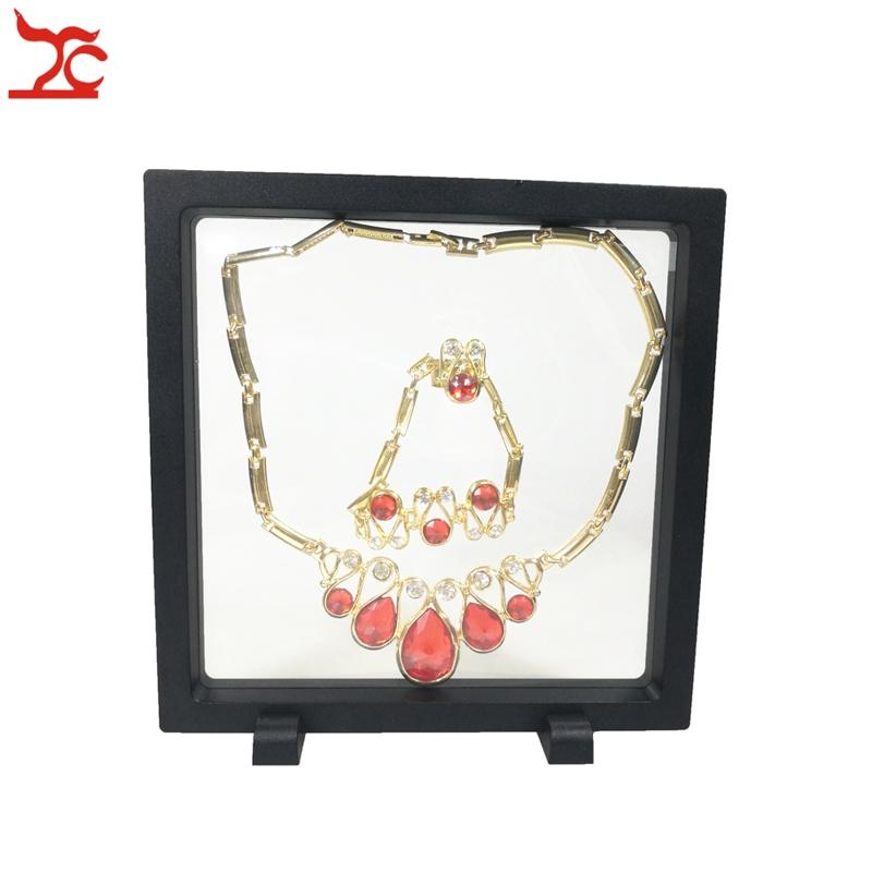 Recloseable Transparent Acyrlic Jewelry Display Window Case Necklace Bracelet Earring Ring Watch Gemstone Holder Rack Stand Case 18*18cm