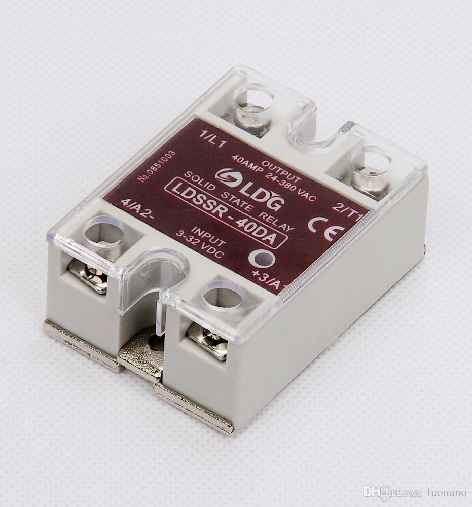 BRAND NEW !!! 3-32 VDC INPUT 4 PCS 40 AMP SOLID STATE RELAY 24-380 VAC
