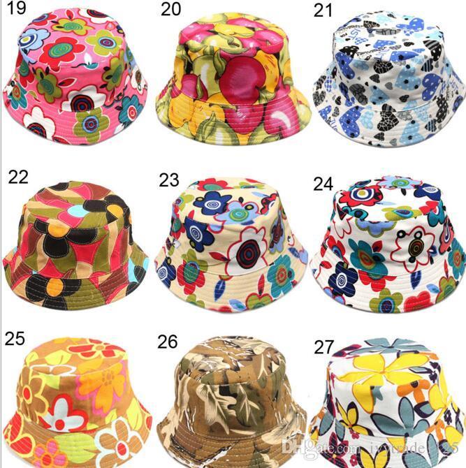 30 colores nueva llegada bebé niños Dibujos animados girasoles sonrisa cara fruta animales y camuflaje Imprimir sombreros niño niña niños pequeños casuales casquillos
