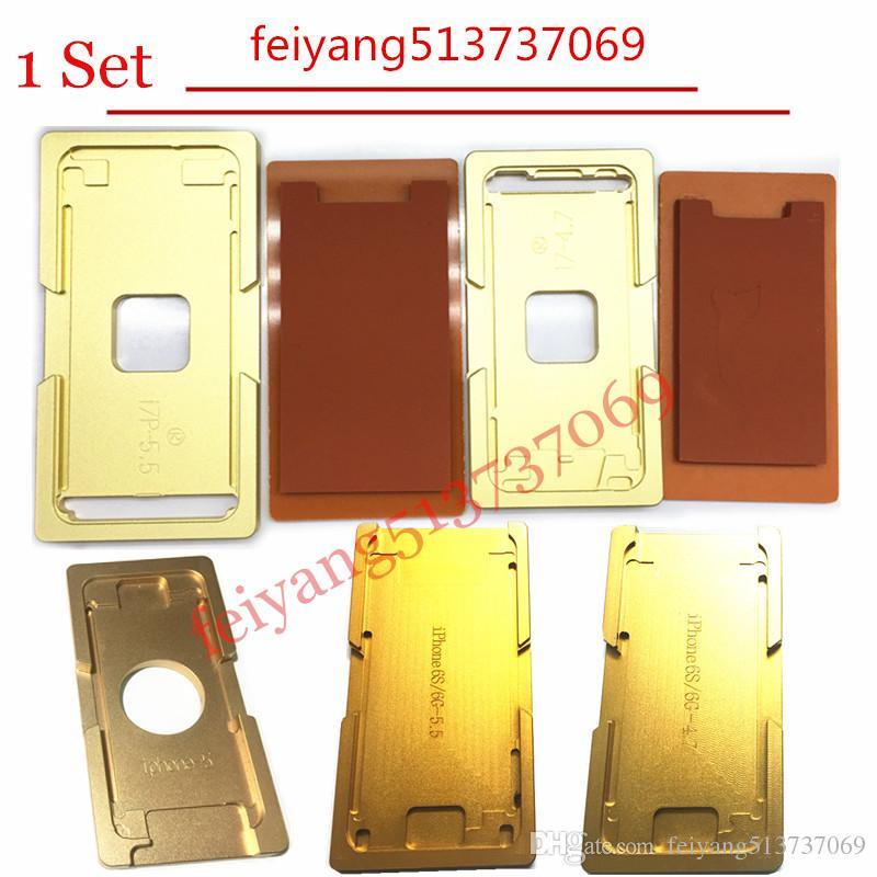 1set Per iphone 5 5s 5c 6 6s 6p 6SP 7 7p Inoltre telaio con stampo stampo di alluminio Precisione Per OCA laminazione macchina Strumenti riparazione