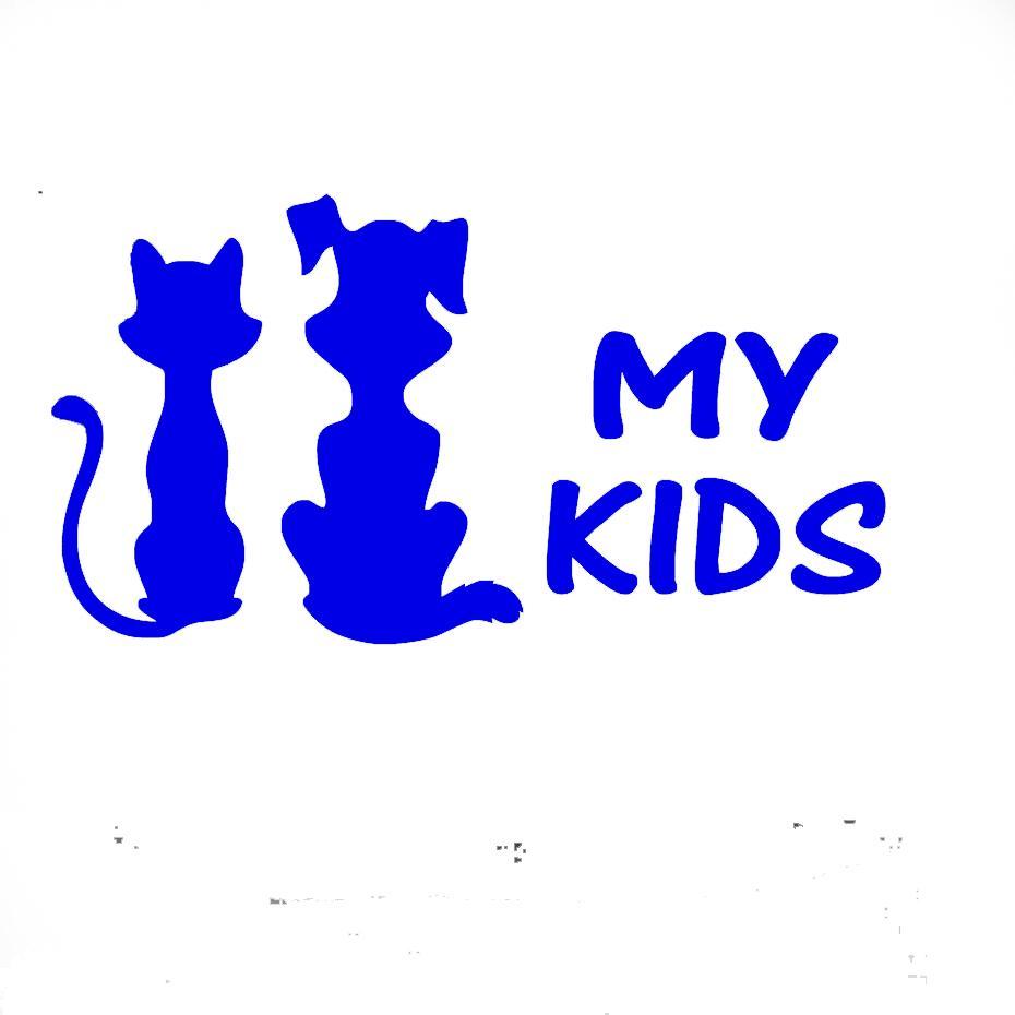15 cm x 9 cm Benim Çocuklar Kedi Ve Köpek Jdm Vinil Çıkartması Araba Çıkartmaları Araba Pencere Cam SUV Kapı Die Cut Tampon Oto Parçaları Çizikler ...