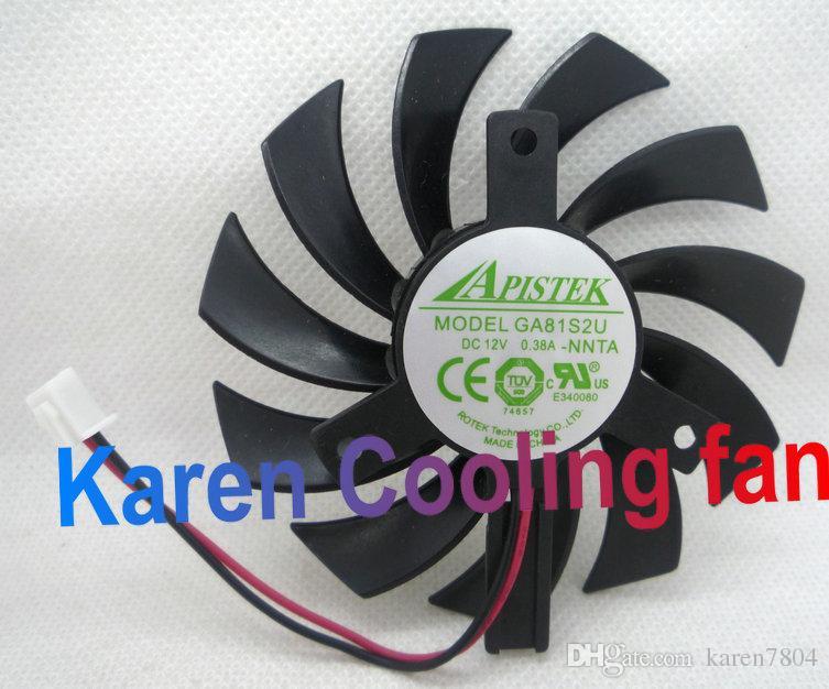 Nuevo ventilador de enfriamiento de la tarjeta gráfica EVEA Onda original APISTEK GA81S2U -NNTB DC12V 0.38A diámetro 75 mm Paso 40 mm