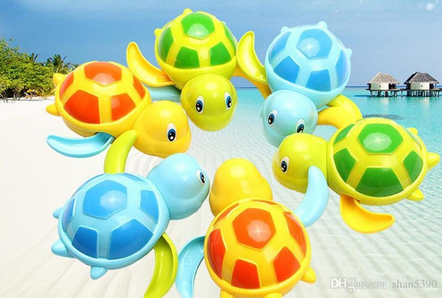 3pcs Baby Turtle Animal Toy Bath Pool Swimming Winding Wind-up For Children Kids