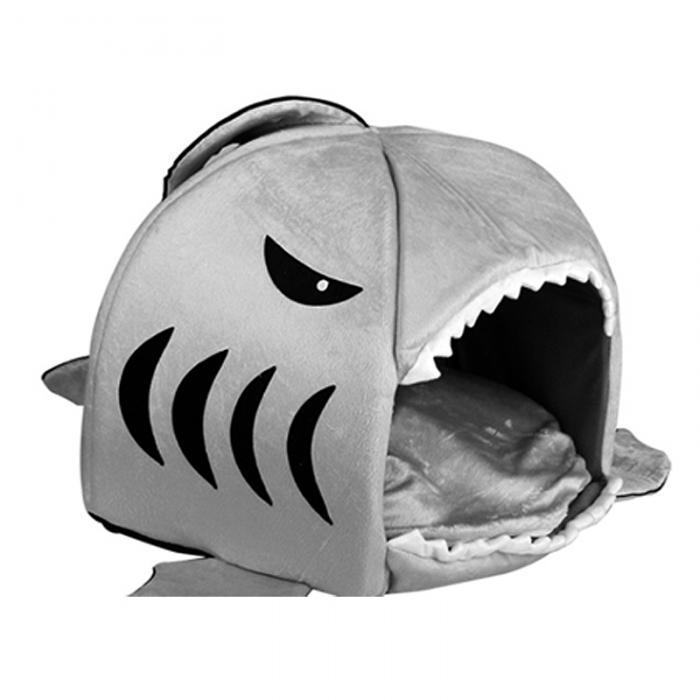 Haus Hund Warm Weiche Schlafsack Bett Hai Hundehütte Katze Bett Höhle Kissen  Kissen Nette Nest Matte