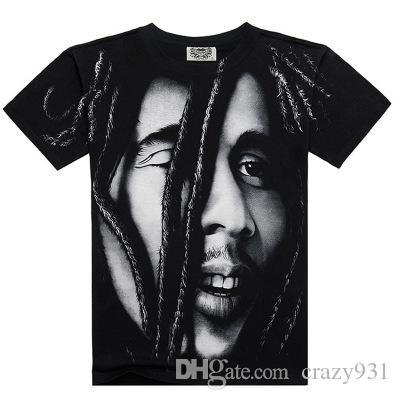 Brand BOB MARLEY T shirts 3D Ful Printed Famous Design For Man Tees Heavy Metal Rock Band T-shirts For Freedom