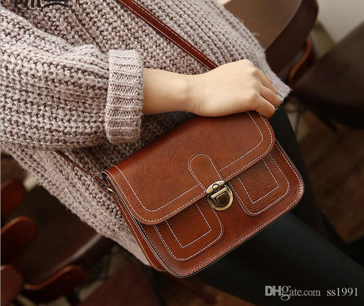 2017 new Korean version of the small Miss Fang Bao car line fashion handbags retro shoulder bag Messenger bag small bag phone