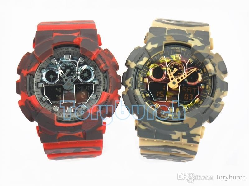 Высокое качество горячей Relogio G * 100 Камуфляж мужские часы бренд новый мужской хронограф наручные часы, военные часы дропшиппинг