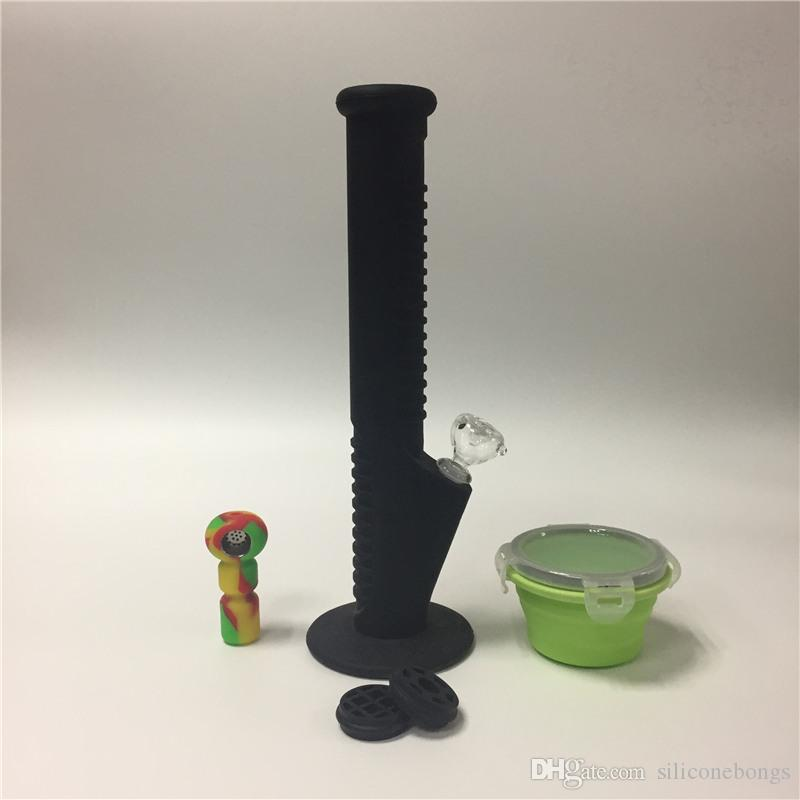 03 Bongs de silicona de diseño único 2017 Tubos de agua de silicona irrompibles Tubos de agua de silicona y tubos de mano
