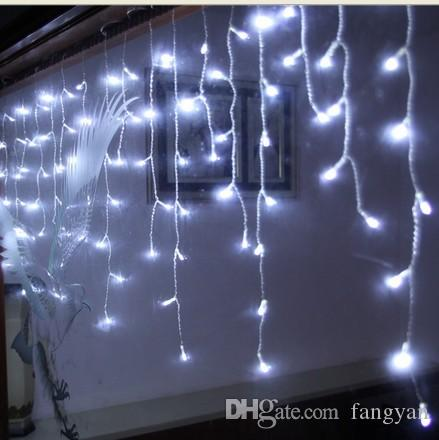 NEW 20M x 0.7M LEDs Holiday Christmas Garden Curtain Icicle String Led Lights Decoration 8 Flash Modes 220V