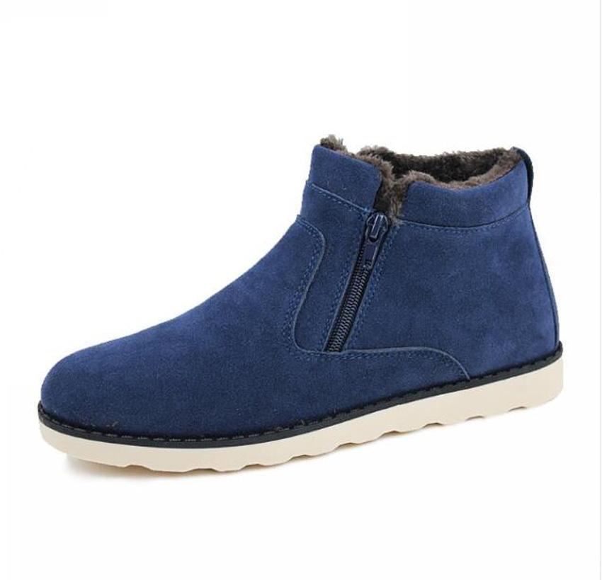 Männer Winter Schuhe Warme Plüsch Schnee Stiefel Mode Winter Casual Stiefeletten Leder Pelz Schuhe Schuhe für männer