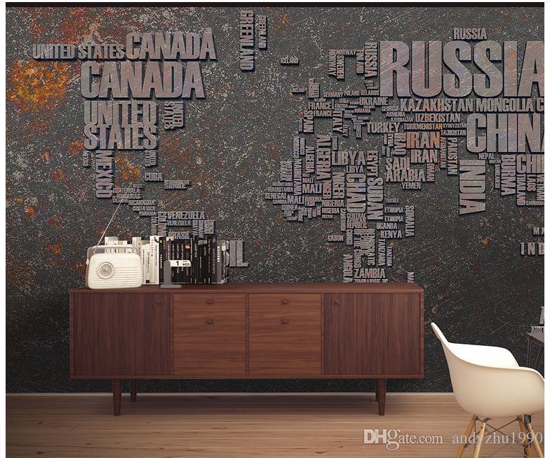 3d fototapete benutzerdefinierte 3d wandbilder europäische und amerikanische persönlichkeit metall weltkarte wandbild tapete backgro 3d wohnzimmer wanddekor