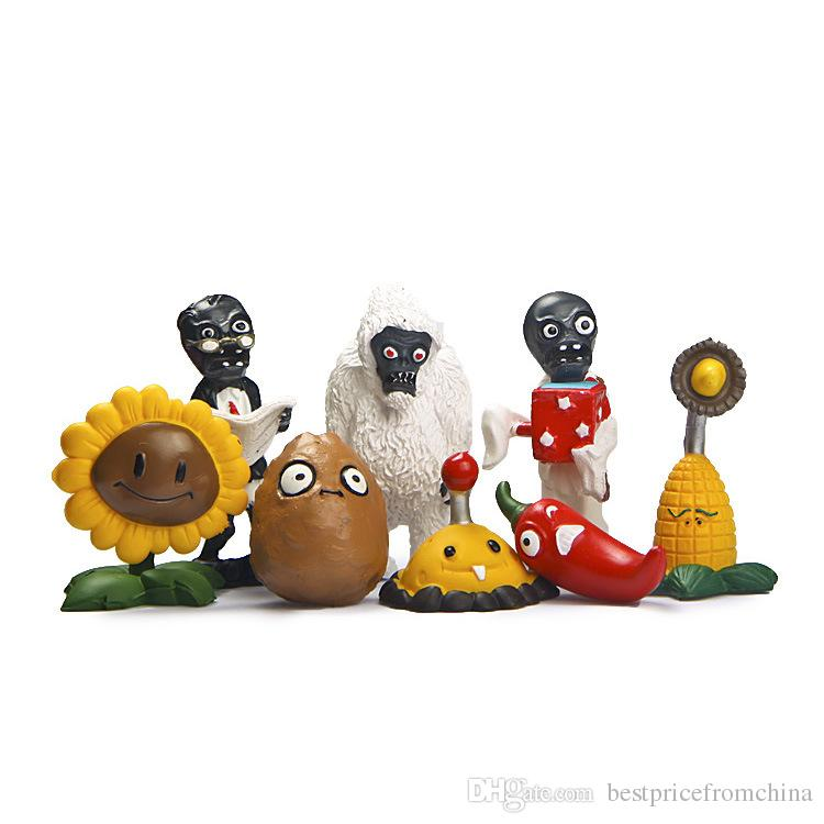 Plants vs Zombies Action Figures Toys PVC Minfigures 8Pcs/Lot 1.5-3inch