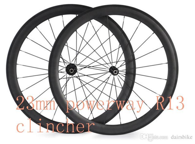 Bicycle Carbon Wheels R13 Hub 50mm Clincher Tubular 23mm Width Bike Wheels 700C