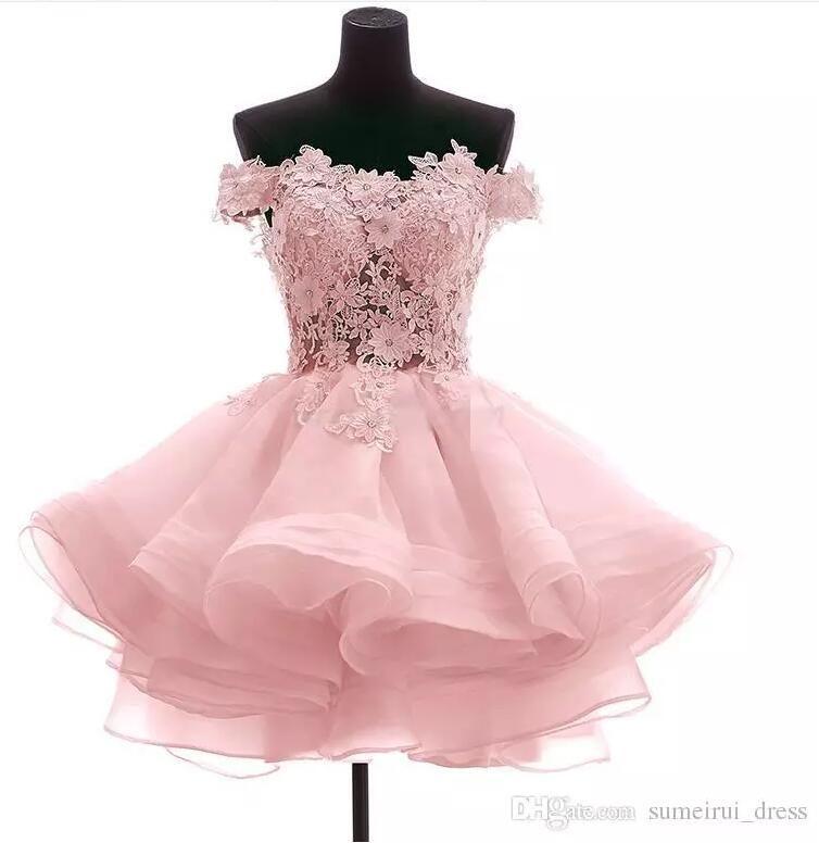 Mini Homecoming Dresses 2017 Off The Shoulder Short Prom Dresses ...