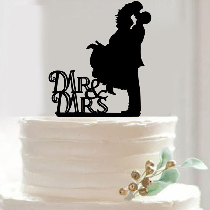 Wholesale- 7 Styles Mr & Mrs Cup Cake Topper Acrylic Cake Pie Fruit Plate Table Decoration Wedding Happy Birthday Party Favors Supplies