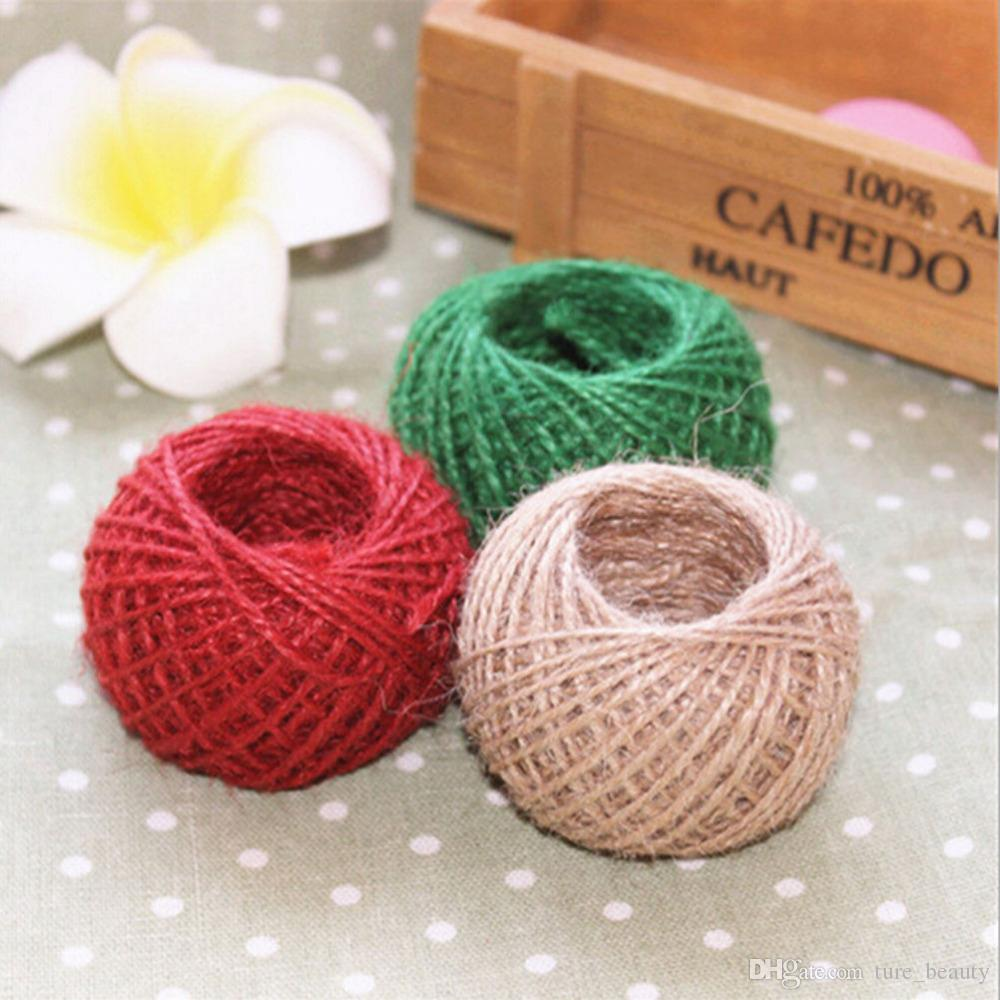 30M Burlap Twine Rope Natural  Cord String Rustic Wedding Decor DIY