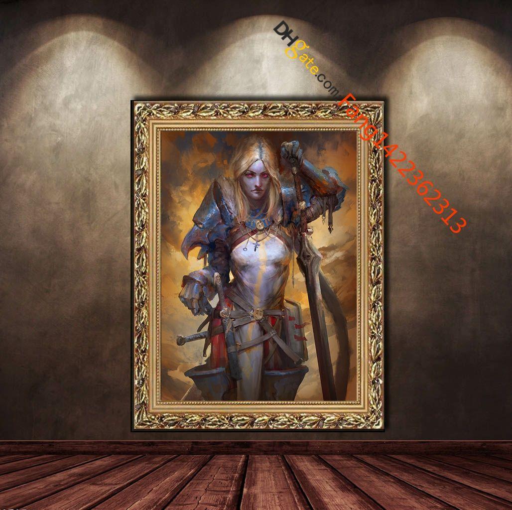 """Commander Four Sword of The Blue Mantle"" Lámina de exposición. HD Canvas Bedroom Wall Print Home decoration pictures (Sin marco)"