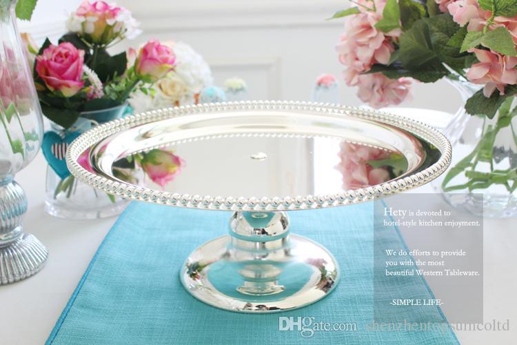 Moda in metallo placcato argento dessert cremagliera torta stand vassoio decorazione di moda spedizione gratuita