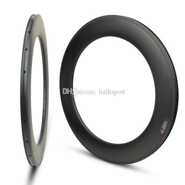 china bicycle manufacturer full carbon rim 88mm clincher rim UD/3K matte finish CC-WR-88C-W23-T