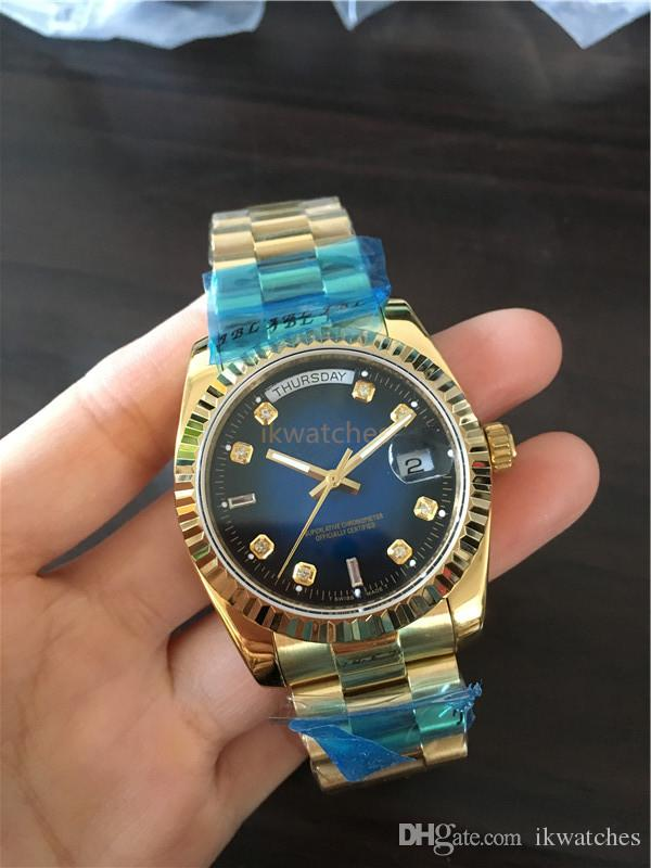 패션 복장 시계는 클래식 망 기계 시계 자동 시계 스테인레스 스틸 시계 209