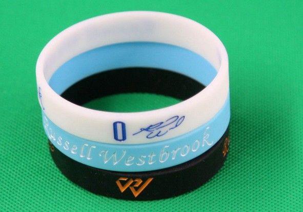 Russell Westbrook 0 Signature nadgarstek Big West Silikonowa bransoletka
