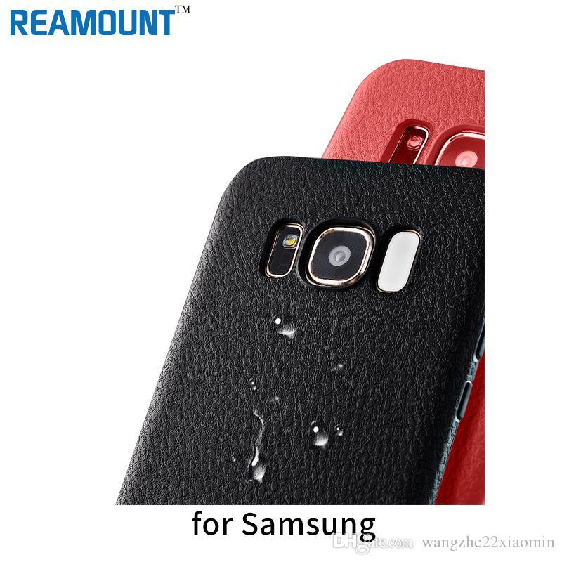 Custodia in pelle nera per Samsung S8 s8 plus Custodia protettiva per telefono