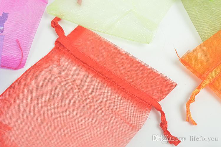 Takı çanta İpli çanta gazlı bez paket ağız kozmetik çantası hediye çanta depolama organizasyon süslemeleri parti favor çanta 3.93 x 5.9 inç