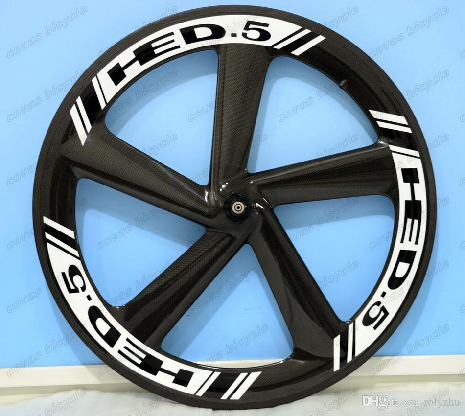 F700c road bike five-spoke carbon wheels 65mm clincher fixed gear wheel high quality clincher for Time Trial Bike Wheel