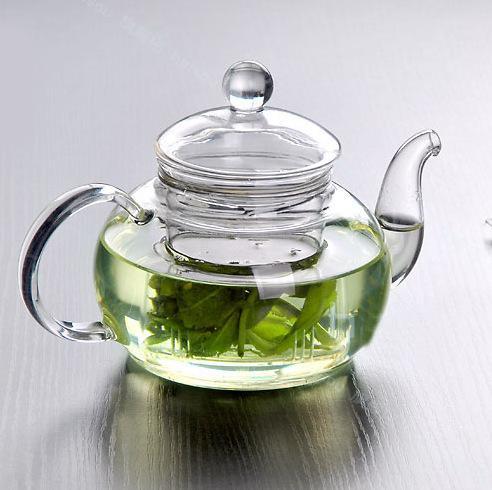 1 PC Novo Resistente Ao Calor Garrafa Xícara de Vidro Bule com Infusor Folha De Chá De Ervas De Café 600 ML Venda Quente J1010-1