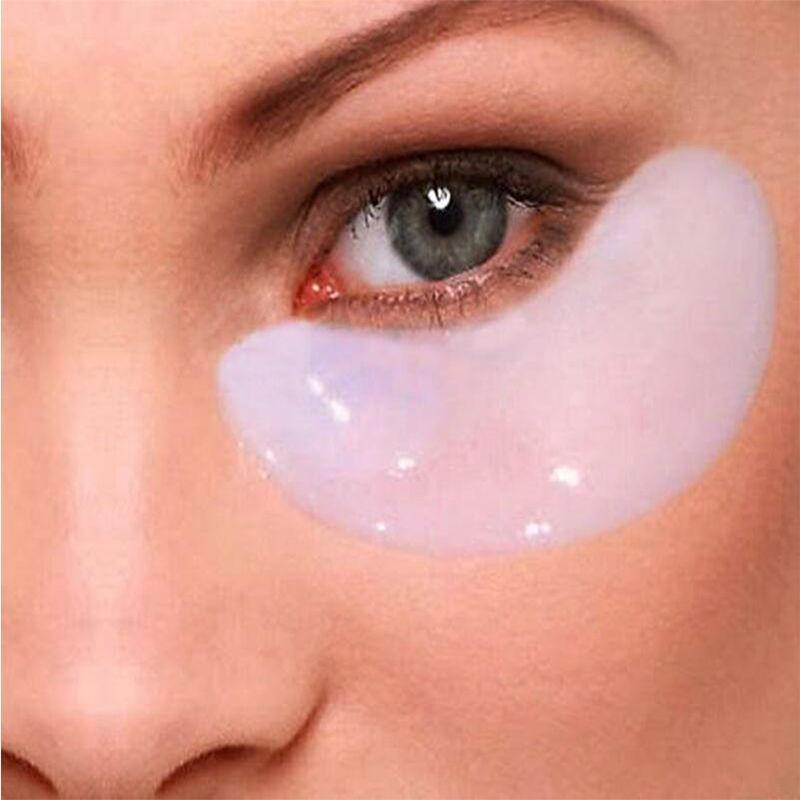 Atacado-Eye Mask Anti-escuro Círculo gel de colágeno sob o olhar Patches Pad Saco Cristal Colágeno 20 pcs = 10 par / lot