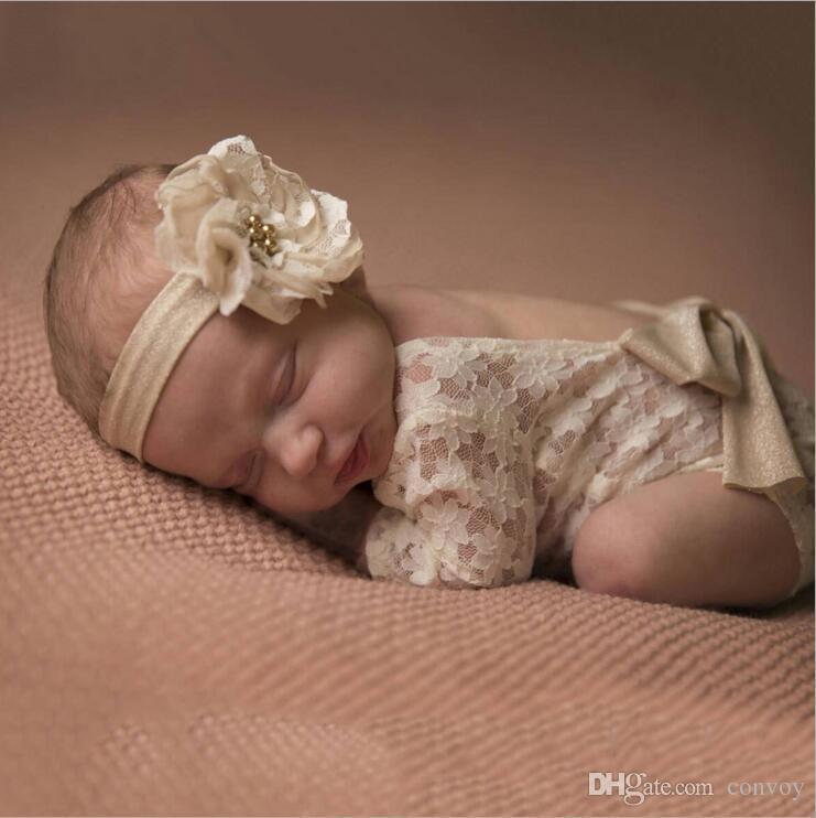 الوليد الطفل الرباط رومبير التصوير السروال القصير الاطفال فتاة لطيف بيتي القوس حللا الرضع طفل صغير الملابس لينة ارتداءها 0-3M KBR07