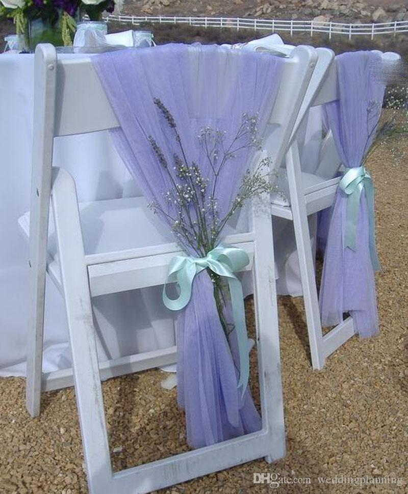 2020 Wholesale Two Sample Birthday Party Wedding Chair Sashes Decorations Chair Ribbon Gauze Back Sash Back Of The Chair Covers Wedding Suppies From Weddingplanning 1 58 Dhgate Com