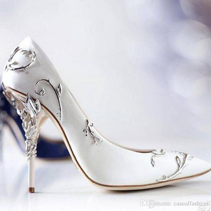 Scarpe Sposa Di Marca.Acquista Moda Di Marca Progetta Scarpe Da Sposa I Tacchi Seta