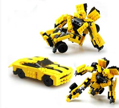 Deformation of auto machine's hornets hold assembled 8711 toy cars robot assembly building blocks