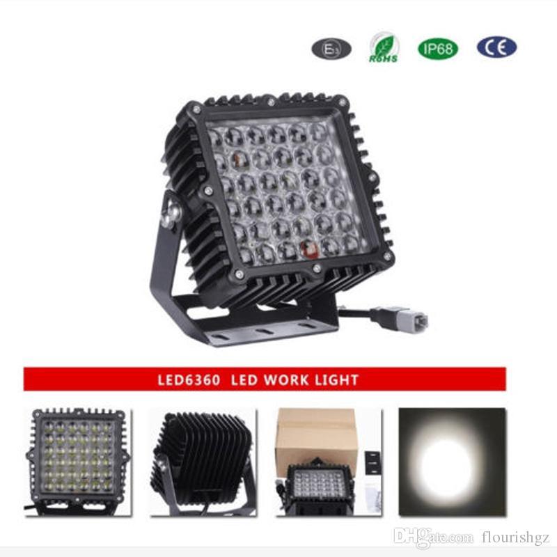 """2 ADET 9 """"360 W 36000lm Cree Chip LED Sürüş İş Işık Ağır Offroad SUV ATV Nokta Kalem Işın 36LED * 10 W Güç Parlak W / Sel Kapak vaka"""